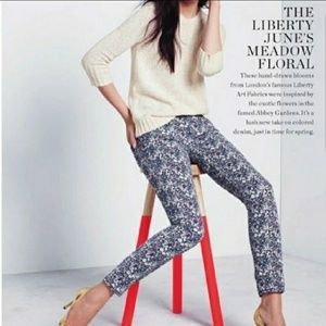 J Crew x Liberty June's Meadow Floral Twill Pants